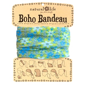 Blue/ Green Boho Bandeau Buff