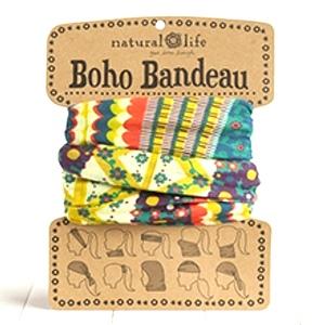 Gold/Cream/Coral- Boho Bandeau Buff