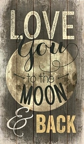 Love You to the Moon and Back Pallet Art