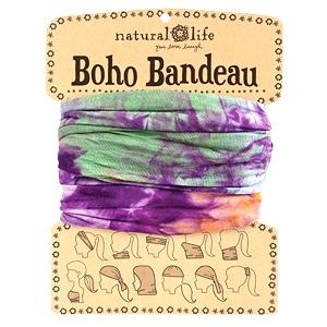 Purple & Green Tie-dye Boho Bandeau Sign | Natural Life