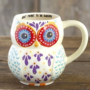 Don't Forget to Be Awesome - Folk Art Owl Mug